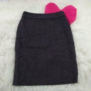 @ Ann Taylor sz 0 Pencil Black White Skirt